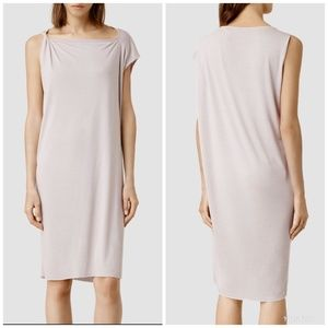 [AllSaints] Cay Asymmetrical Raw Hem Dress